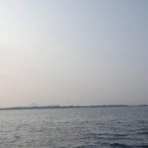 8月22日の琵琶湖 朝のうちが勝負でした。