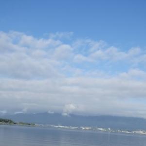 8月29日の琵琶湖 夢がありますねー。
