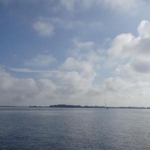 9月5日の琵琶湖 暑いといまいちですね。