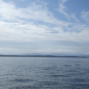 9月19日の琵琶湖 惜しいタイミングもありました。