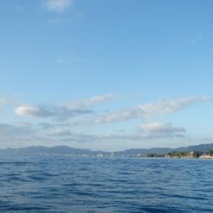 10月15日の琵琶湖 予報と違って穏やかな時間が長かったです。