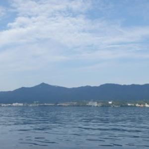 6月7日の琵琶湖 夏らしくなってきました。