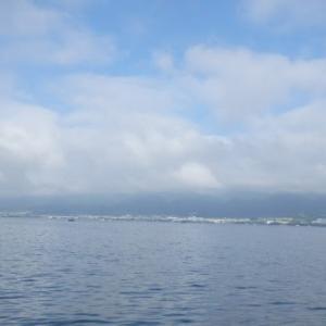 6月17日の琵琶湖 梅雨の晴れ間は暑い、でも珍しいことに…