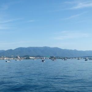 7月22日の琵琶湖 夏の釣りが始まりそうです。