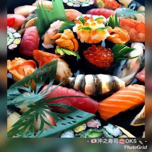 お子様の誕生日お祝い寿司