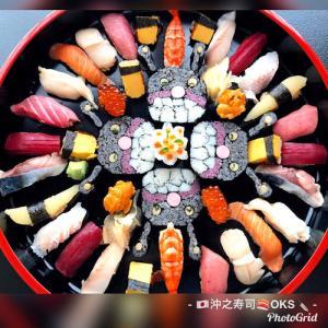 お子様の誕生日お祝い盛り込み寿司