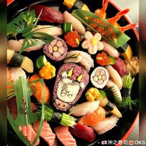 ハレの食事に細工寿司で