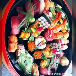 誕生日お祝い寿司テイクアウト