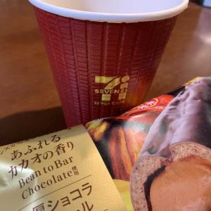 セブンのコーヒーとファミマのスイーツ