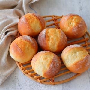 ミルクブレッドを丸パンで