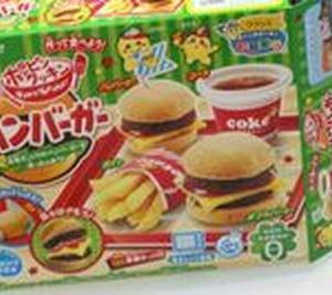 次は、お菓子のハンバーガー!