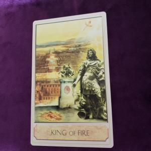 セルフカード タローさんと遊ぶ 6月20日 火の王