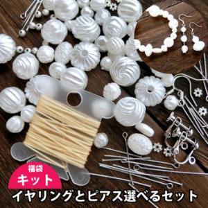 【福袋 ネコポス送料無料】パールビーズのアクセサリー作れるセット