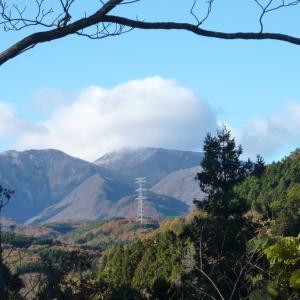 赤城山の山頂には初冠雪