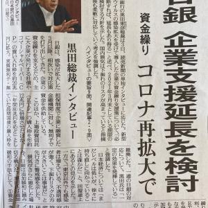 日銀支援延長