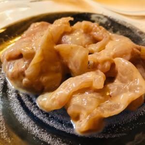 カワハギの肝和え 太刀魚炙り