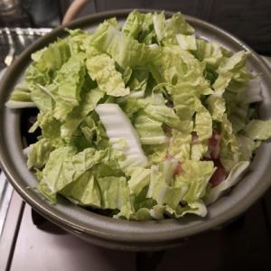 今日も白菜鍋