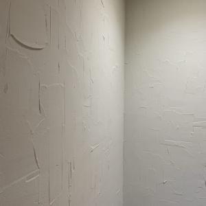 寝室の壁に珪藻土を塗りました。