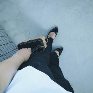 ホワイト×ブラックコーデ♡