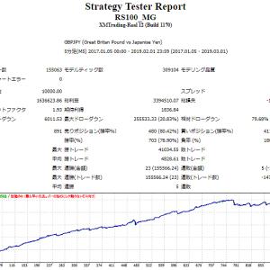 1月の結果報告 【RS100-MG】【MGR】