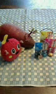 さつまいもに芽が! と豆ストラップつきのくじ とブログで井村氏を探す