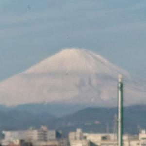 富士山が真っ白に
