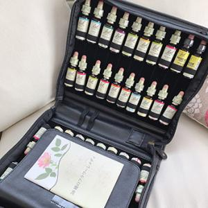 【数量限定】黒い皮革バッグつきのバッチフラワーレメディ40セットが発売!
