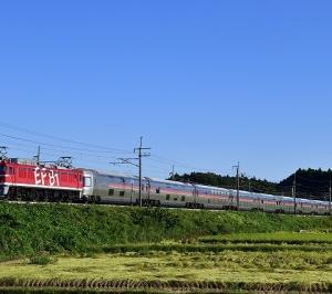 EF81 95牽引のカシオペア返却回送