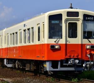 関東鉄道復刻塗装キハ2402号が早速営業運転に登場!