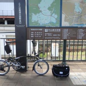彦根サイクリングクラブの「美濃・白川ツアー」にブロンプトンで参加しました・・・1日目の集団走行。