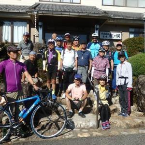 彦根サイクリングクラブの「美濃・白川ツアー」にブロンプトンで参加しました・・・2日目の集団走行。