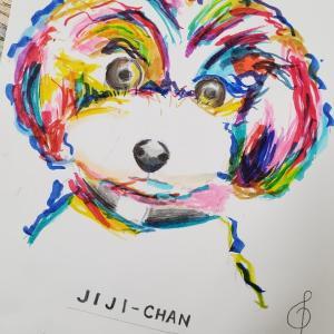 ジジちゃんを描いてみる。