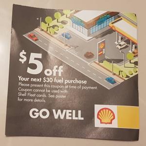 Shell石油の割引クーポンがでるときは非常にお得になる。