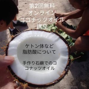 ココナッツオイルのケトン体とかについて。無料オンライン講座第2弾