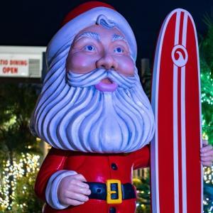 港でクリスマスライト