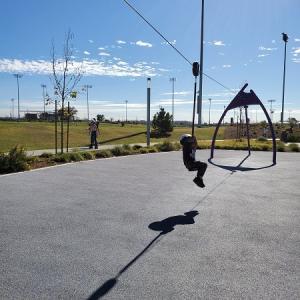 ジップラインのある公園