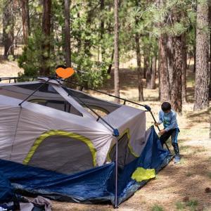 Barton Flatsでキャンプ