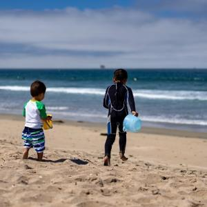 久しぶりのビーチ
