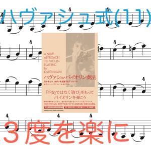 ハヴァシュ式(11)左手 3度の音幅の形