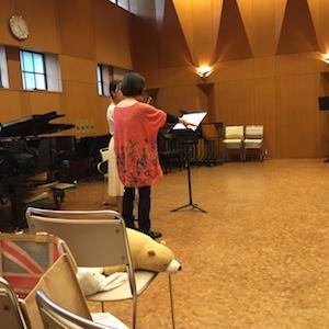 神戸女学院大学音楽学部でのハヴァシュ式講座