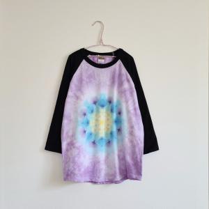 曼荼羅染めのラグランTシャツ