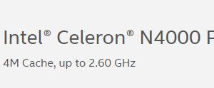 Celeron N4000/N4100 が凄い件