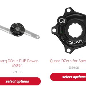 QUARQパワーメーターも値下げ!