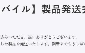6月15日注文分 Rakuten mini(白)が遂に発送