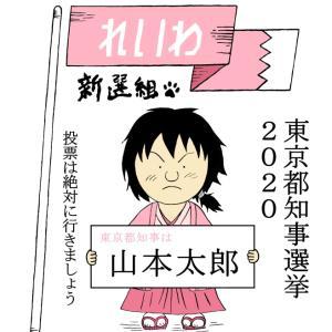イラスト・れいわ新選組山本太郎(東京都知事選挙2020)