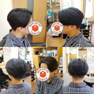 長めのヘアスタイルやってます!!