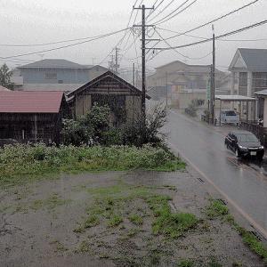 梅雨の雨ふる冷たい朝に