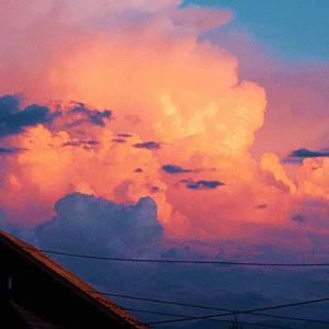 夕焼けが輝く窓辺が嬉しくて