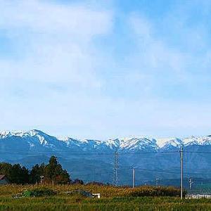 やっぱりね飯豊連峰の初冠雪は嬉しいんです