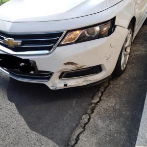 交通事故にあった•2